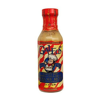Galeo's Galeos Award Winning All Natural Miso Sesame Dressing, 13 Oz (Pack of 10) (Sesame)