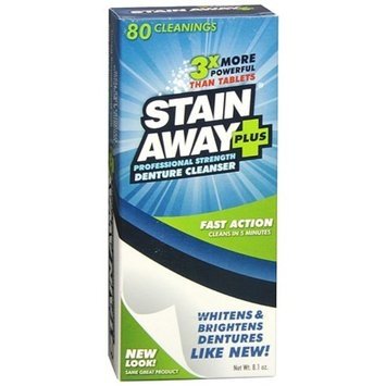 StainAway Plus Powered Professional Strength Denture Cleanser