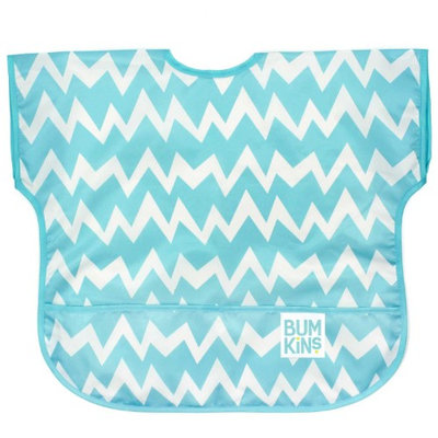 Bumkins Blue Chevron Junior Bib