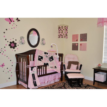 Divina DK Leigh Sweet Butterfly 9 Piece Boutique Crib Bedding Set