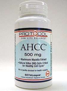 AHCC 500 mg 60 vcaps by Protocol For Life Balance
