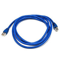Monoprice 7FT 24AWG Cat6A 500MHz STP Bare Copper Ethernet Network Cable - Blue