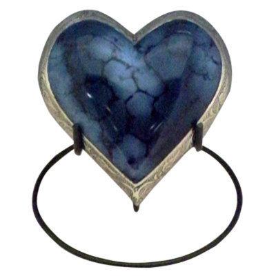 Star Legacy Blue Heart Feline Pet Urn