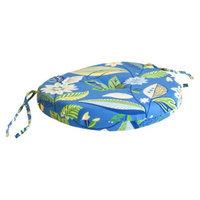 Jordan Outdoor Round Bistro Cushion - Blue/Green Floral