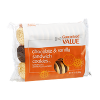 Guaranteed Value Chocolate & Vanilla Sandwich Cookies