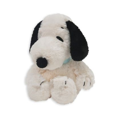 Lambs & Ivy 10.25 inch Peanuts Snoopy Plush Dog - White/Black