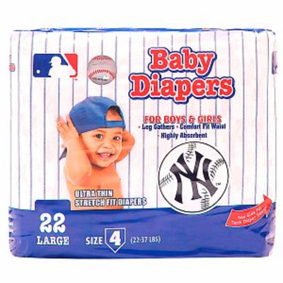 Braco Manufacturing New York Yankees Supreme Disposable Diapers, Size 4, 1 ea