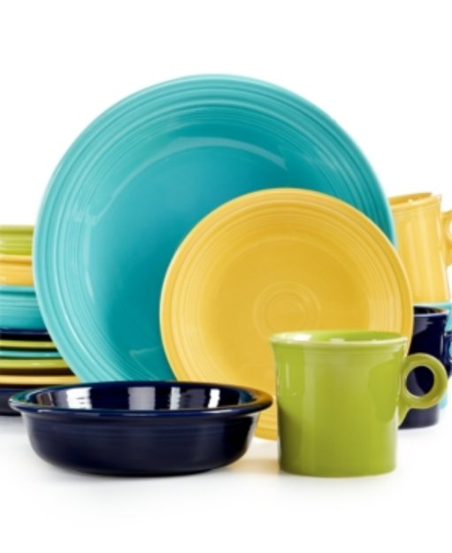 Fiesta Mixed Cool Colors 16-Piece Set