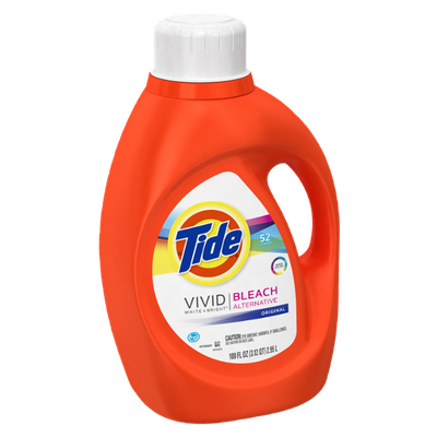Tide Vivid White + Bright HE Original Scent Liquid Laundry Detergent 52 Loads 100 Fl Oz