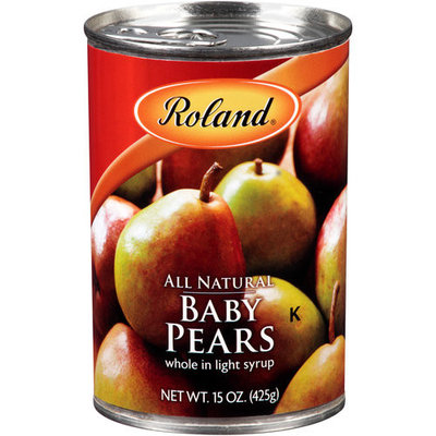 Roland Whole Baby Pears in Light Syrup, 15 oz