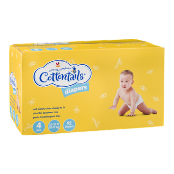 Ahold Cottontails Diapers 4-Size (23-37 lb.) - 92 CT