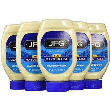JFG Brands JFG Squeeze Mayonnaise, 18-Ounce Bottles (Pack of 6)
