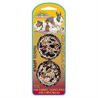 .Sun Seed Grainola Cakes Papaya Apple for Rabbits Guinea Pigs and Chinchillas (2-pack) (1-oz)