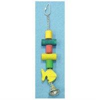 North American Pet BBO22290 Dowel With Fish Bird Toy