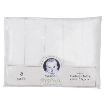 Gerber Organic Birdseye Prefold 3-Ply Cloth Diapers - 5 Count