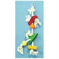 North American Pet BBO22303 Triangle Block- Beads And Knots Bird Toy