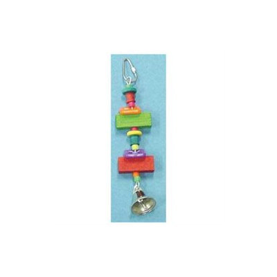 Bobs Wood 7 1/2in TOY WITH BLOCK RING STAR-90385