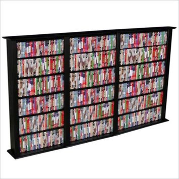 Venture Horizon Triple 50-Inch CD DVD Wall Rack Media Storage-Walnut