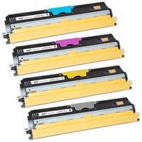 LD Compatible Konica Minolta MagiColor 1600W Set of 4 High Yield Laser Toner Cartridges: 1 Black A0V301F, Cyan A0V30HF, Magenta A0V030CF, Yellow A0V306F