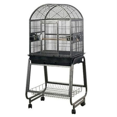 A E Bird Cages A and E Dometop Bird Cage with Shelf Black