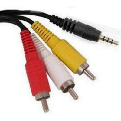 Oem Products Samsung and Sony Compatible 4-Pole Camcorder Cable 3.5mm Male to 3 RCA Males