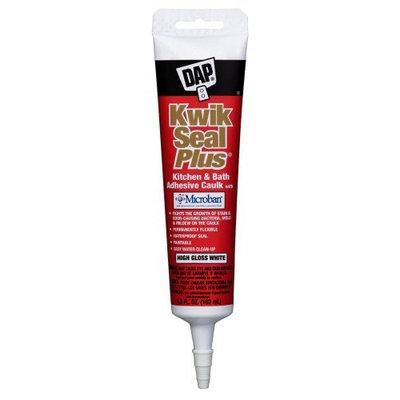 Dap 18526 Kwik Seal Plus Kitchen and Bath All-Purpose Adhesive Caulk, 5.5-Ounce, White
