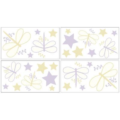 Jojo Designs Sweet JoJo Designs Purple Dragonfly Dreams Wall Decal Stickers