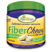 Fiber 35 Diet Fiber Chews Rich Chocolate -- 60 Wafers