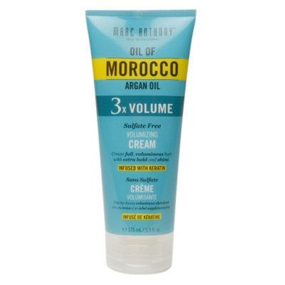 Marc Anthony True Professional Oil of Morocco Argan Oil 3x Volume Sulfate Free Volumizing Cream, 5.9 fl oz