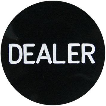 Trademark Poker Professional Black Dealer Button - SIERRA ACCESSORIES
