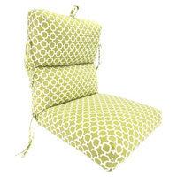 Jordan Outdoor Deluxe Chair Cushion - Green/White Geometric