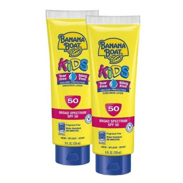 BANANA BOAT Banana Boat Kids Tear Free Sunscreen Lotion Set with SPF 50 - 2 Pack