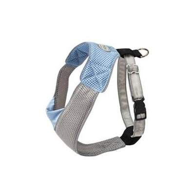 Doggles Dog Wear Mesh Harness in Blue and Gray