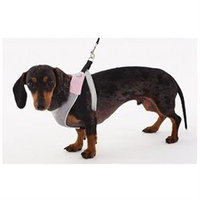 Doggles Dog Wear Mesh Harness in Pink and Gray