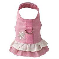 Doggles HADHXX02 XXS Hemp Dress Harness with Flower - Pink