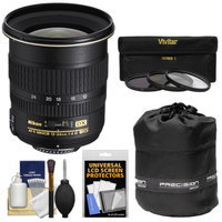 Nikon 12-24mm f/4 G DX AF-S ED-IF Zoom-Nikkor Lens with 3 UV/ND8/CPL Filters + Accessory Kit for D3100, D3200, D3300, D5100, D5200, D5300, D7000, D7100 DSLR Cameras