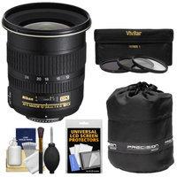 Nikon 12-24mm f/4 G DX AF-S ED-IF Zoom-Nikkor Lens with 3 UV/ND8/CPL Filters + Accessory Kit for D3100, D3200, D3300, D5100, D5200, D5300, D7000, D7100 DSLR Cameras