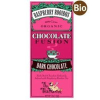 The Tea Room Organic Dark Chocolate Bar Infused with Red Raspberry Rooibos Tea (5 Bars)