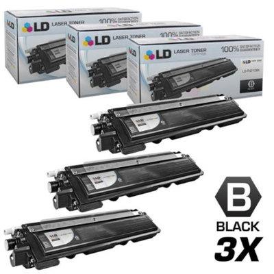 LD Brother Compatible Set of 3 Black TN210BK Laser Toner Cartridges for DCP-9010CN, HL-3040CN, HL-3045CN, HL-3070CW, HL-3075CW, MFC-9010CN, MFC-9120CN, MFC-9125CN, MFC-9320CN, MFC-9320CW, MFC-9325CW
