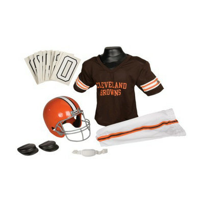 Franklin Sports NFL Browns Deluxe Uniform Set - Small