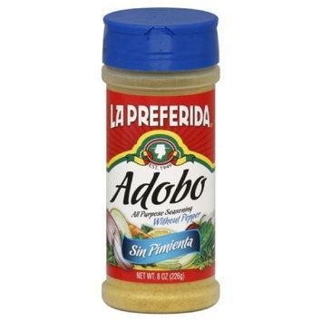 La Preferida Adobo Sin Pimienta, 8-Ounce (Pack of 12)