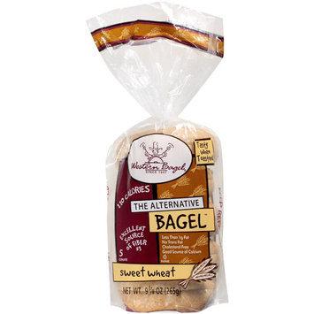 Western Bagel Sweet Wheat Bagels, 5 count, 10 oz