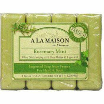 A La Maison Bar Soap Rosemary Mint Value 4 Pack
