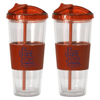 Boelter Brands MLB Cardinals Set of 2 No Spill Straw Tumbler - 22oz
