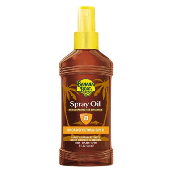 Banana Boat Deep Tanning Oil Sunscreen Spray SPF 8