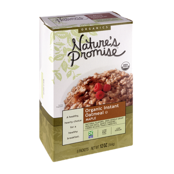 Nature's Promise Organics Organic Instant Oatmeal Maple