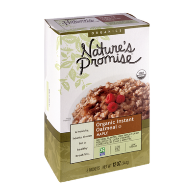 Nature's Promise Organics Organic Instant Oatmeal Maple