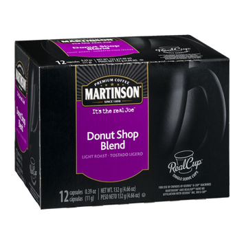 Martinson Donut Shop Blend Light Roast Coffee Capsules - 12 CT