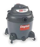 DAYTON 3VE22 Wet/Dry Vacuum, 6.5 HP, 18 gal, 120V