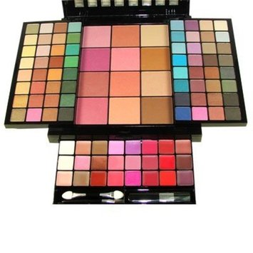 Malibu Glitz 100 Colors Ultimate Combination Makeup Set Palette 08128B 62 Eye Shadows 10 Blushes 4 Powders 24 Lip Colors